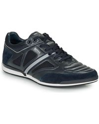 BOSS by Hugo Boss Saturn Lowp Strf Men's Shoes (trainers) In Blue