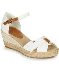 Tommy Hilfiger Basic Opened Toe Mid Wedge Sandals - White