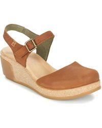 El Naturalista Leaves Sandals - Brown