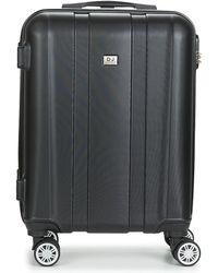 David Jones Chauvetto 40l Men's Hard Suitcase In Black