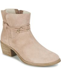 Betty London Ikita Low Ankle Boots - Pink