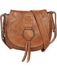 068b5bdfa5d4 Prada Folk Saddle Studded Leather Cross-body Bag in Black - Lyst