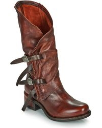 A.s.98 Isperia Buckle High Boots - Red
