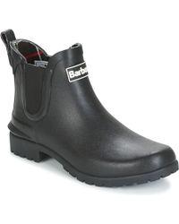 Barbour Wellington Ankle Boots - Black