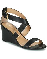 Lauren by Ralph Lauren Chadwell Sandals Casual Wedge Sandals - Black