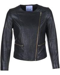 Betty London Iglobine Leather Jacket - Black