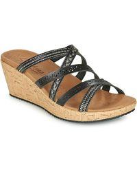 Skechers Beverlee Tiger Posse Mules / Casual Shoes - Black