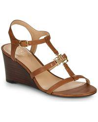Lauren by Ralph Lauren Charlton Sandals Casual Wedge Sandals - Brown
