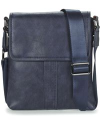 Casual Attitude Leonardi Men's Pouch In Blue