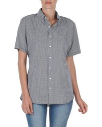 American Apparel Rsacp401s Women's Short Sleeved Shirt In Blue