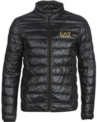 EA7 Down Hooded Jacket - Black