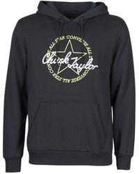 Converse Deconstructed Chuck Patch Pullover Hoodie Sweatshirt - Black