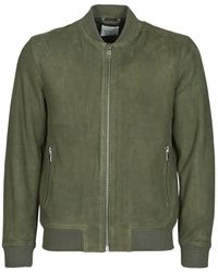 SELECTED Slhb01 Leather Jacket - Green