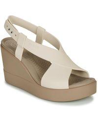 Crocs™ Brooklyn High Wedge W Sandals - Natural
