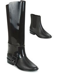 Melissa Riding Ii Ad. High Boots - Black