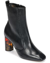 KG by Kurt Geiger Stride 90 Leather Block Heel Boot - Black