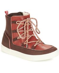 André Snow Mid Boots - Brown