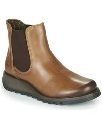 Fly London Salv Low Ankle Boots - Brown