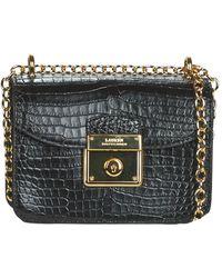 Lauren by Ralph Lauren Heritage Lock Becket Crossbody Mini Shoulder Bag - Black