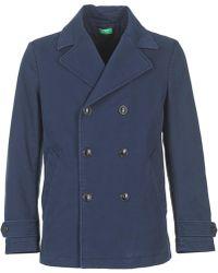 Benetton Fimara Men's Coat In Blue