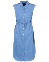 Loreak Mendian Bat Arkansas Long Dress - Blue