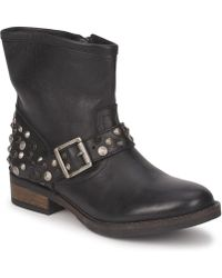 Pieces - Isadora Leather Boot Mid Boots - Lyst