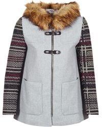 Desigual Abrig_selena Long Sleeve Coat - Grey