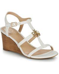 Lauren by Ralph Lauren Charlton Sandals Casual Wedge Sandals - White