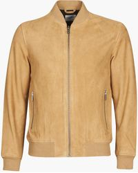 SELECTED Slhb01 Leather Jacket - Brown