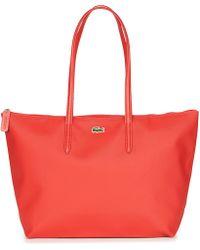 Lacoste L 12 12 Concept Shopper Bag - Red