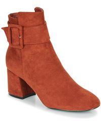Moony Mood Faziole Low Ankle Boots - Orange