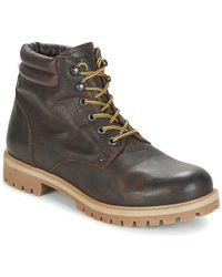 Jack & Jones - Stoke Leather Boot Mid Boots - Lyst