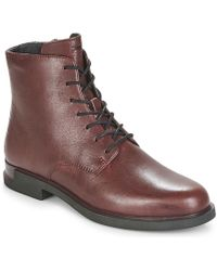 Camper Iman Mid Boots - Red