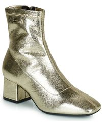 Les Tropéziennes Par M Belarbi Daniela Low Ankle Boots - Metallic