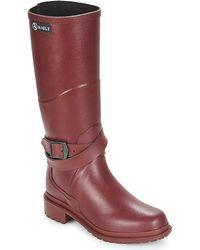 Aigle Macadames Wellington Boots - Red