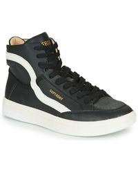 Superdry Basket Lux Trainer Shoes (high-top Trainers) - Black