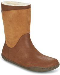 Camper Peu Cami Mid Boots - Brown