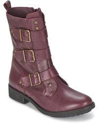 IKKS Ranger-collector-boucle Mid Boots - Purple