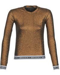 American Retro Allan Long Sleeve T-shirt - Metallic