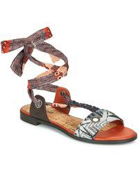 Desigual Jungle Africa Sandals - White