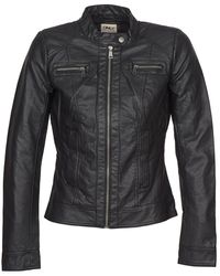 ONLY Bandit Women's Leather Jacket In Black