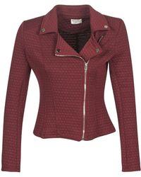Moony Mood Laula Women's Leather Jacket In Red