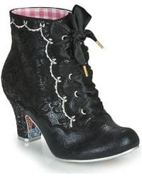 Irregular Choice Chinese Whispers Low Ankle Boots - Black