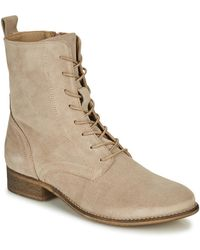 Betty London Orype Mid Boots - Natural