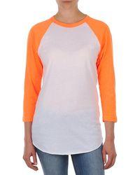 American Apparel Unisex Poly-cotton 3/4 Sleeve Raglan Long Sleeve T-shirt - White