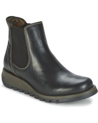 Fly London Salv Mid Boots - Black