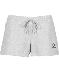 Converse Womens Embroidered Star Chevron Short Ft Shorts - Grey