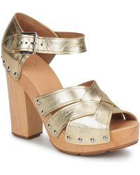 Marc By Marc Jacobs Venta Women's Sandals In Gold - Metallic