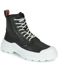 Palladium Pallakix Mid Sk Shoes (high-top Trainers) - Black