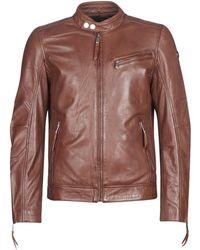 Redskins Trust Casting Leather Jacket - Brown